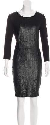 Haute Hippie Knee-Length Sequined-Accented Dress