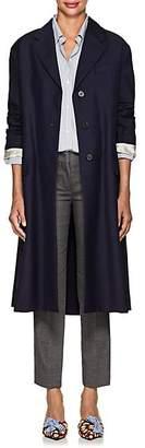 Prada Women's Mohair-Wool Belted Coat - Navy