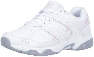 Avia Women's Avi-Verge Sneaker, Bright White Pink/Silver/Steel Grey, 8.5 Wide US
