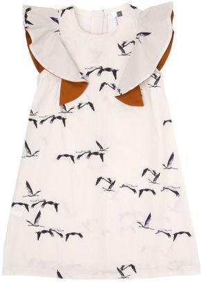 Manuela Bird Printed Cotton Poplin Dress $76 thestylecure.com