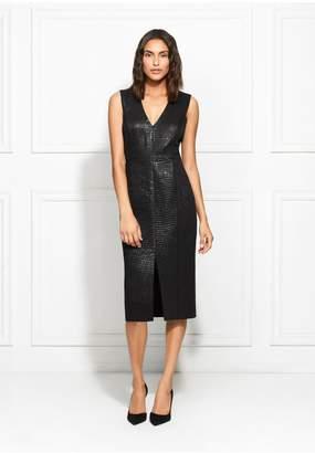 Rachel Zoe Joy Metallic Croc Dress