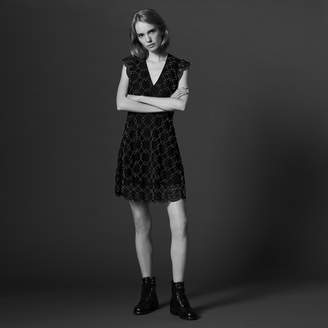 Sandro Beaded dress with sheer effect