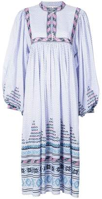 Figue Nora embroidered smock dress
