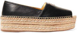 Prada - Leather Platform Espadrilles - Black $620 thestylecure.com