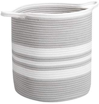 Pottery Barn Kids Grey Cotton Rope Hamper