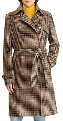 Ralph Lauren Houndstooth Wool Trench Coat - 100% Exclusive