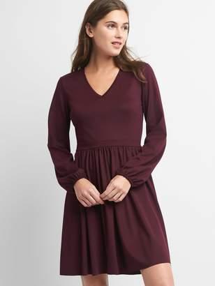 Gap Ponte V-neck fit and flare dress