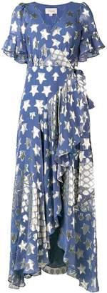 Temperley London Hetty star wrap dress