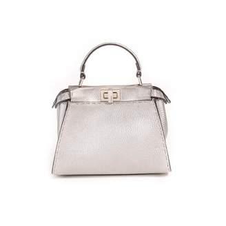 Fendi Peekaboo Silver Leather Handbags