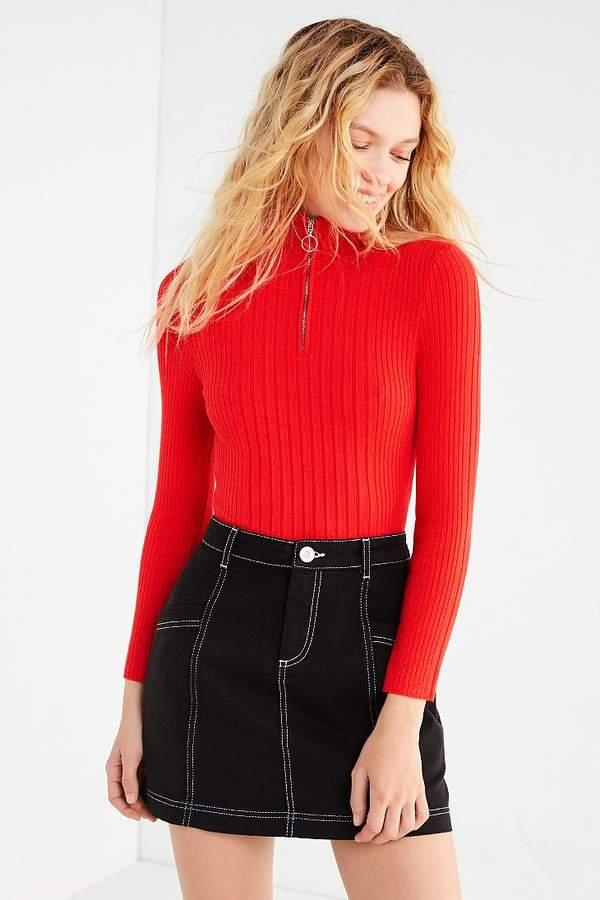 BDG Contrast Stitch Mini Skirt