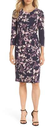 Eliza J Floral Sheath Dress