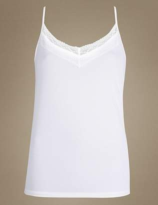 """Marks and Spencer Lace Neck Strappy Vest with Cool Comfortâ""""¢"""