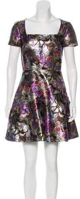 Valentino Camu Brocade Dress