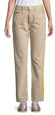 Calvin Klein High-Rise Side-Tape Pants