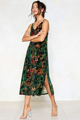 Nasty Gal Meadow One Better Floral Burnout Dress
