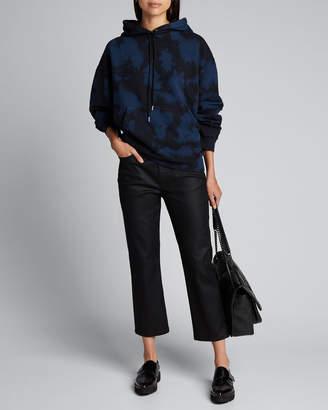 Proenza Schouler White Label Long-Sleeve Hooded Tie-Dye Classic Sweatshirt