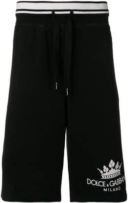 Dolce & Gabbana logo track shorts