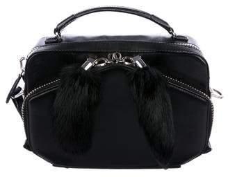Alexander Wang Fur-Trimmed Leather Satchel