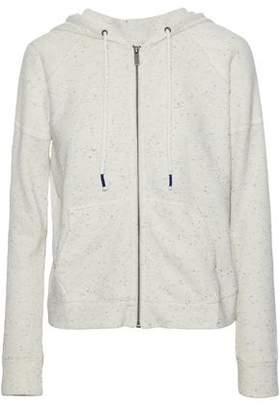 Splendid Marled Cotton-Terry Hooded Sweatshirt