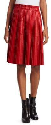 We11Done Faux-Leather Accordian Pleat Skirt