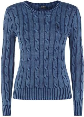 Polo Ralph Lauren Polo Julianna Cableknit Swtr Blue