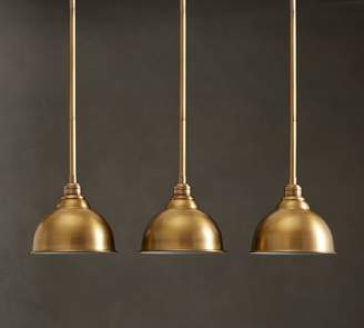 Pottery Barn PB Classic 3-Light Pendant with Metal Bell Shade