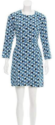 Peter Jensen Silk Geese Print Dress