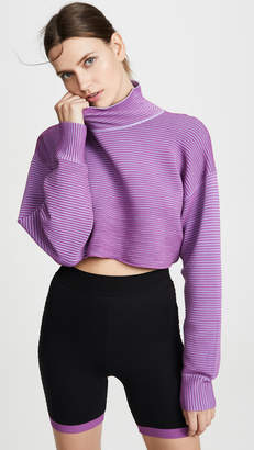 NAGNATA Cropped Rib Sweater