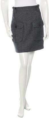 Mulberry Virgin Wool Mini Skirt $85 thestylecure.com