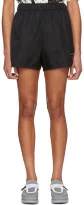Prada Black Nylon Gabardine Logo Shorts