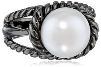 TARA Pearls Freshwater Cultured Pearl Black Rhodium Ring