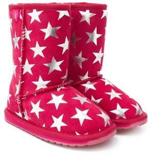 Emu star print boots
