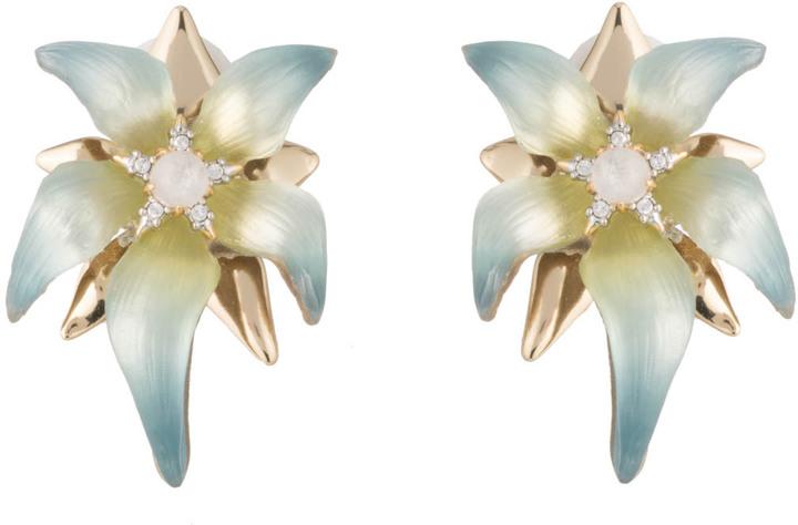 Alexis BittarCrystal Accent Petal Flower Clip Earring