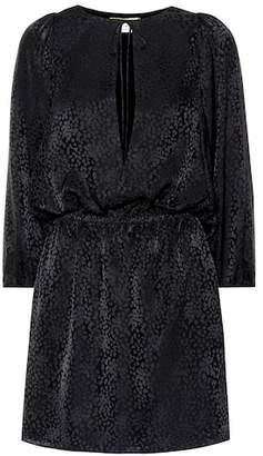 Saint Laurent Silk jacquard minidress