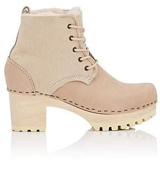 NO.6 STORE NO. 6 Women's Shearling-Lined Leather Ankle Boots - Beige, Tan