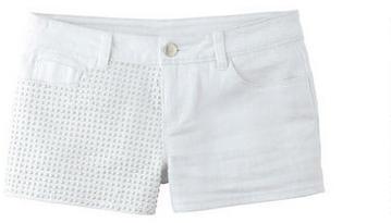 Delia's High Waist Studded White Short