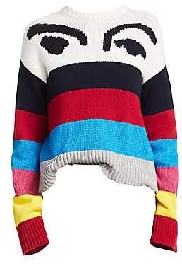 Derek Lam 10 Crosby Women's Multicolor Stripe Graphic Sweater