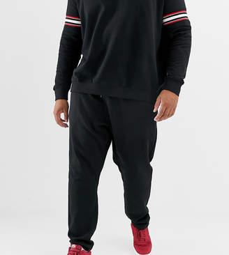 Burton Menswear Big & Tall cargo sweatpants in black