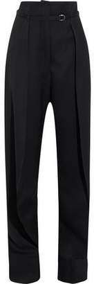 Lemaire Pleated Wool Straight-Leg Pants