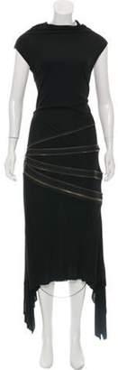 Jean Paul Gaultier Zip-Accented Maxi Dress Black Zip-Accented Maxi Dress