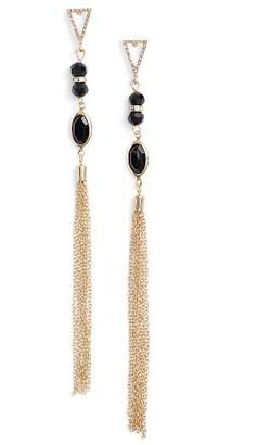 Women's Ettika Chain Tassel Drop Earrings $35 thestylecure.com