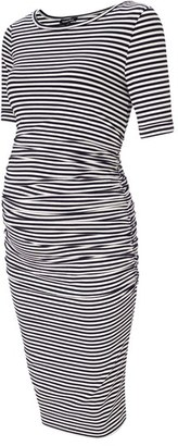 Women's Isabella Oliver Arlington Stripe Maternity Dress $159 thestylecure.com