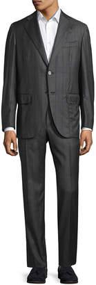 Isaia Striped Notch Lapel Suit