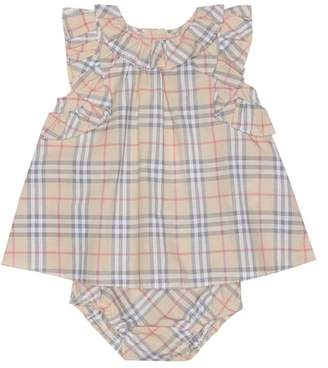 Burberry Check cotton dress and bloomers set