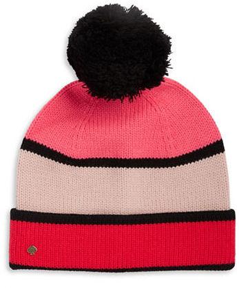 Kate SpadeKate Spade New York Colorblocked Knit Hat