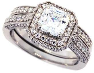 Swarovski Amazon Collection Sterling Silver Cubic Zirconia and Matching Ring, Size 7