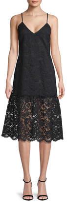Gold Hawk Alexandra Lace Midi Dress