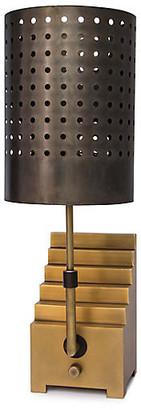 Escher Bookend Table Lamp - Natural Brass/Bronze - Regina Andrew