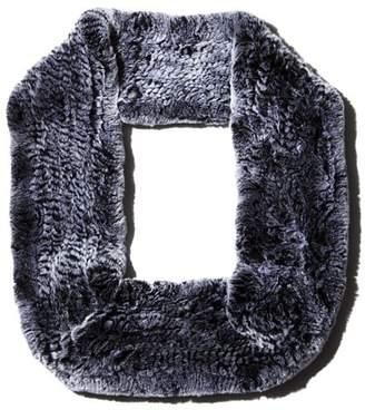 Maximilian Furs Rabbit Fur Infinity Scarf