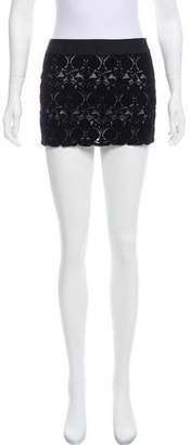 Ann Demeulemeester Velvet Mini Skirt
